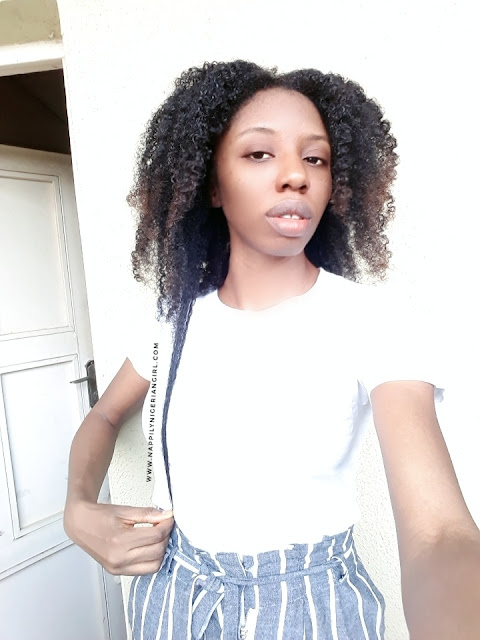 Natural nigerian with long type 4 natural hair