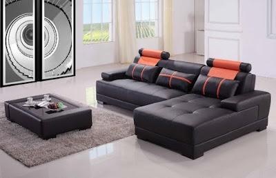 sofa kulit sudut