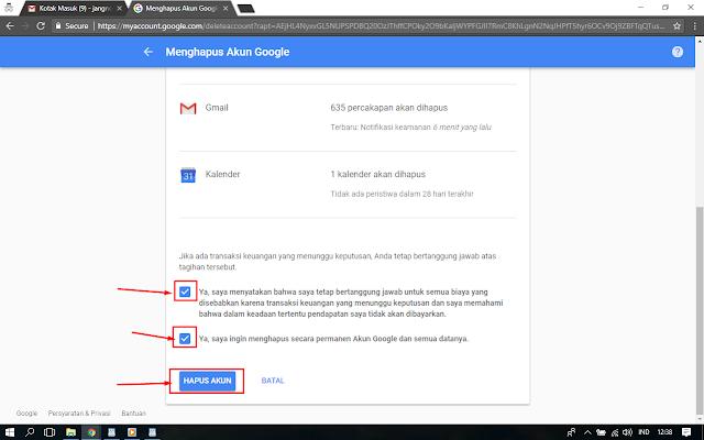 Menghapus Akun Google atau Gmail Permanen