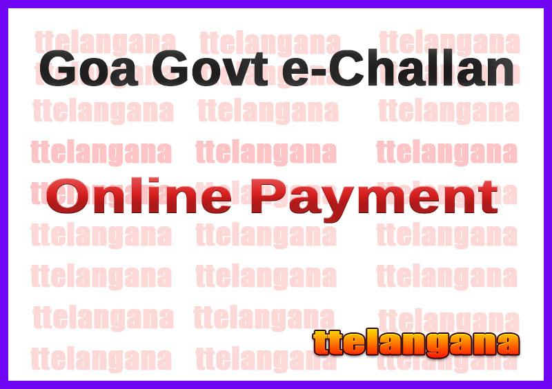 Goa Govt e-Challan Online Payment Portal