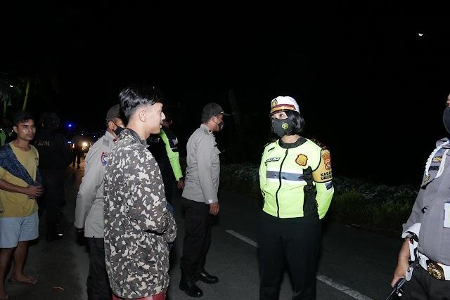 Patroli Gabungan, Polres Lobar Amankan Sejumlah Sepeda Motor Terindikasi Balap Liar.