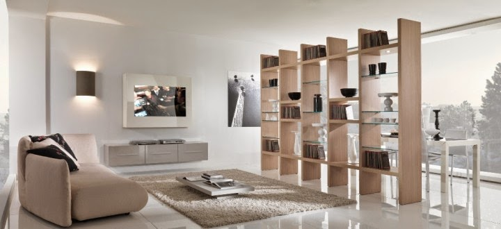 Minimalist Home Design Decor, Minimalist Homes, Modern Interior Design 2015  With Wood Bookshelf