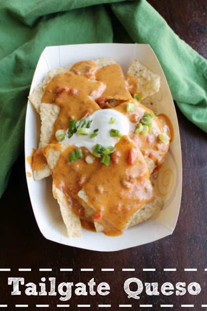 Queso is the ultimate party food and is a must for tailgating and watching the game at home. This tailgate queso is full of flavor and it is super simple to make.