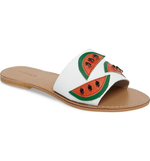Topshop Happy Fruity Watermelon Sandals