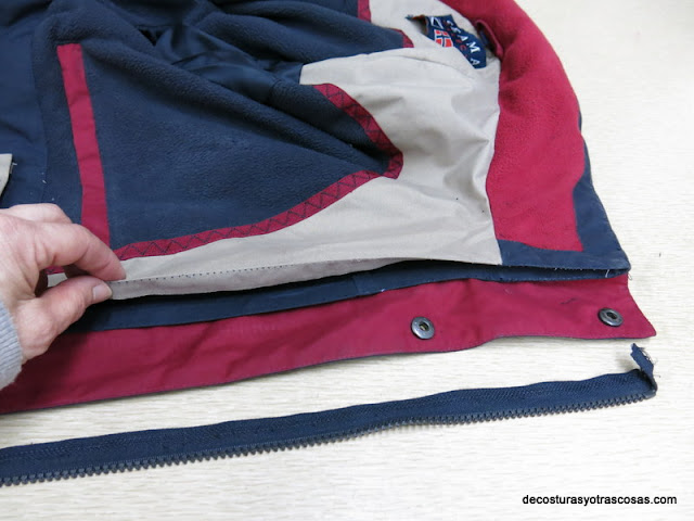 como sustituir zipper usada