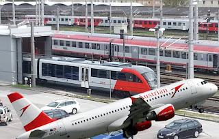 شركة,الطيران,النمساوية,تتخلى,على,بعض,الرحلات,لصالح,شركة,القطارات