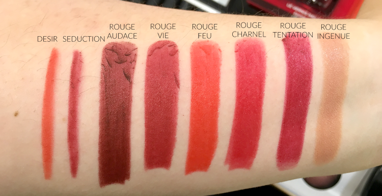 chanel-fall-2016-makeup-swatches-review-allure-rouge-ingenue-tentation-charnel-vie-feu-audace-desir-seduction