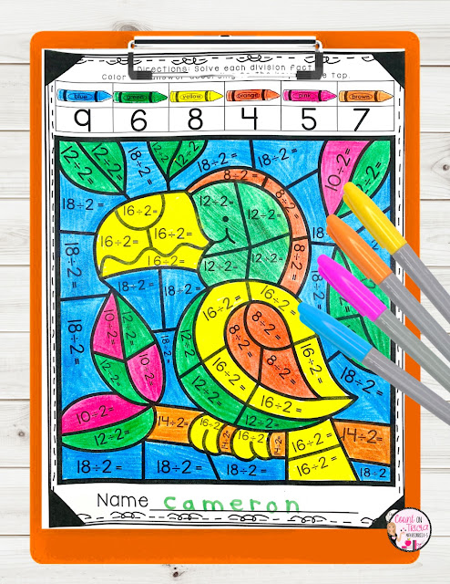 Division Dividing by 2 free Activities and anchor chart for Third Grade and Fourth Grade Math