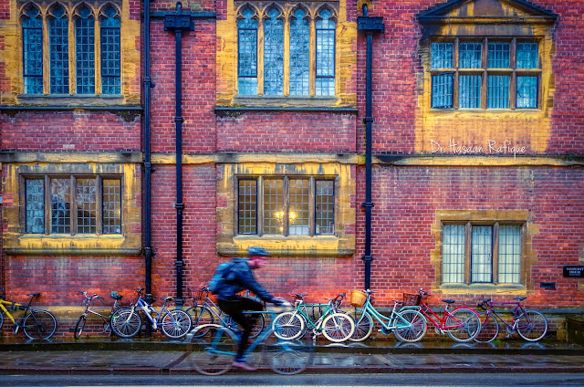 Photo: City Motion - cyclist in Cambridge