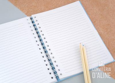 caderno personalizado recordações assinaturas