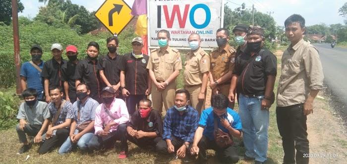 Kunjungan Pj ,Sekkab Novriwan Jaya ,SP Ke Balai,IWO Ikatan Wartawan Online Tubaba.