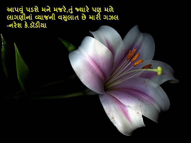 Apavu Padse Mane Majre Tu Jyare Pan Male Sher By Naresh K. Dodia