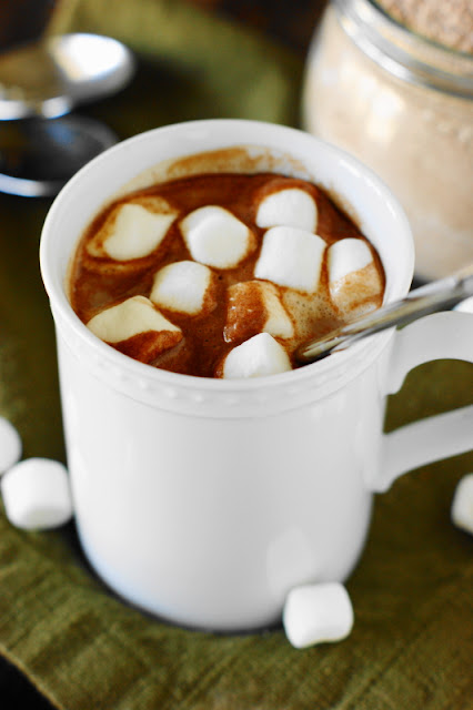 Homemade Hot Chocolate Mix ~ keep a batch of this easy mix on hand and enjoy a creamy mugful of hot cocoa any time!   www.thekitchenismyplayground.com