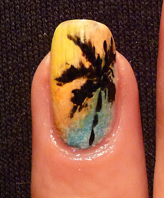 hawai manicure, manicure, wspomnienie lata, Golden Rose Fantastic Nail Lacquer, Golden Rose Paris Nail Lacquer, Sally Hansen, NYC, letnie paznokcie, Eveline,