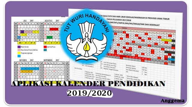 Aplikasi Kalender  Pendidikan  sekolah K13  excel 2019/2020