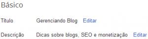 Titulo Blogger