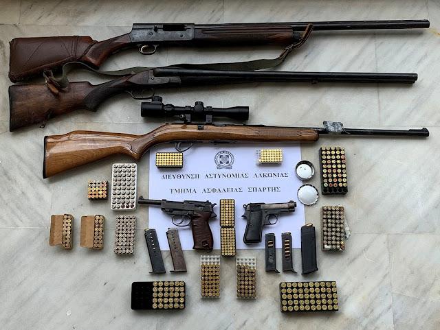 Ολόκληρο οπλοστάσιο είχε 48χρονος στη Λακωνία