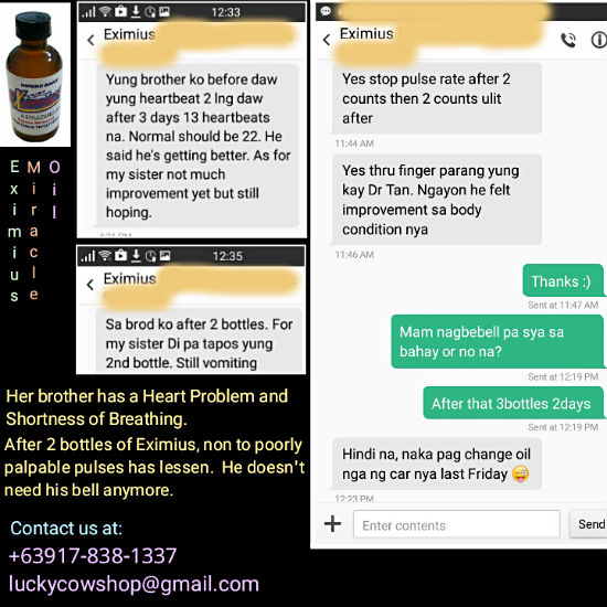 eximius miracle oil testimonial heart problem