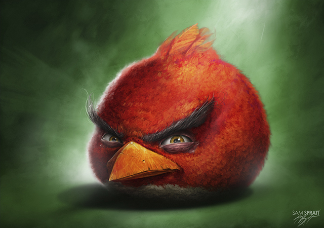 Realistic Angry Birds Illustrations by Sam Spratt ...