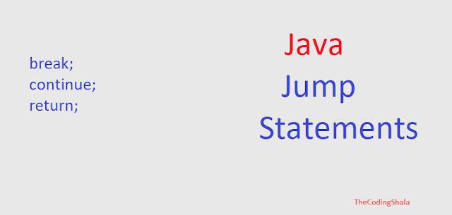 Java Jump Statements - The Coding Shala