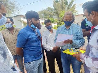 लाबरिया टप्पा तहसील कार्यालय प्रारम्भ करवाने हेतु ग्रामीणजनों ने एसडीएम को सौंपा ज्ञापन