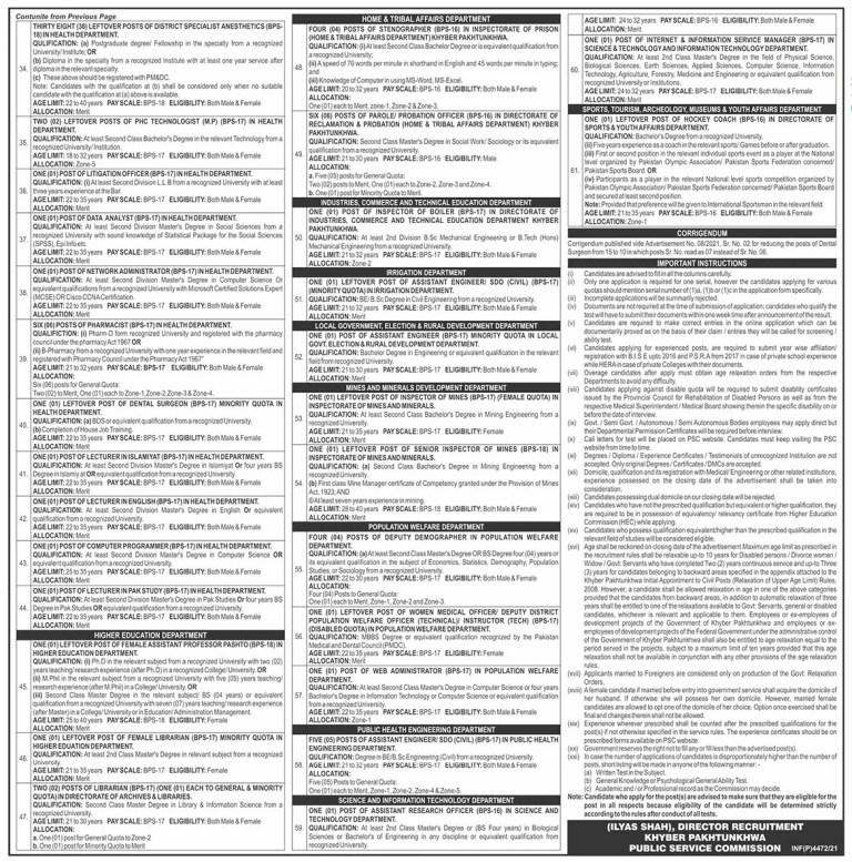 www.kppsc.gov.pk - KPPSC Khyber Pakhtunkhwa Public Service Commission Jobs 2021 in Pakistan