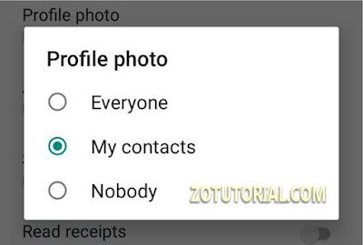 Cara Menyembunyikan Foto Profil WA Tanpa Blokir by zotutorial.com