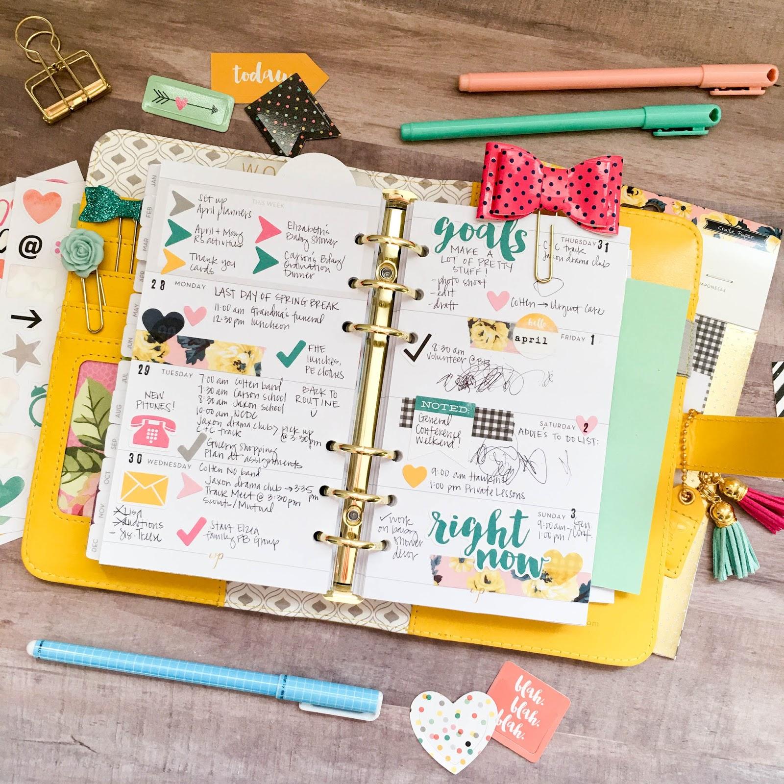 Precocious Paper April Planner Pages Scrapbook Circle