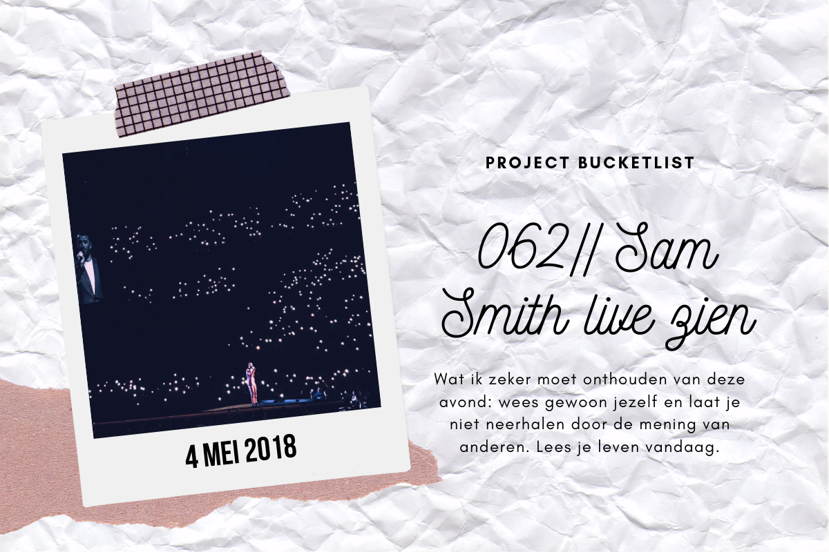 062 // Sam Smith live zien