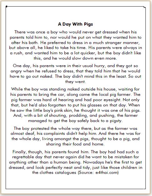 contoh cerita bahasa inggris