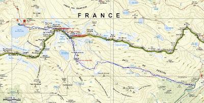 Recorrido sobre mapa Tusse Remuñe - Rabada Navarro - Cabrioules