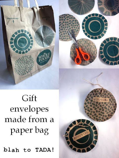 gift envelopes made from a paper bag