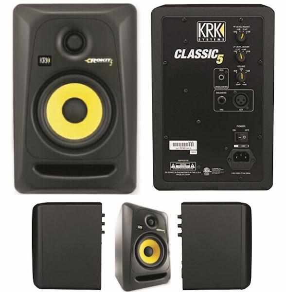 KRK Studio Monitors: Classic-5 Powered Audio-Sound Mixing Speakers - RP5G3-59107