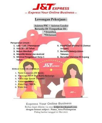 Lowongan Kerja J&T Express Sebagai Asisten PIC / Asisten Leader