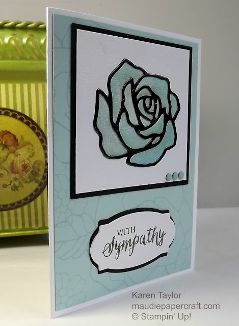Stampin' Up! Rose wonder and rose garden card