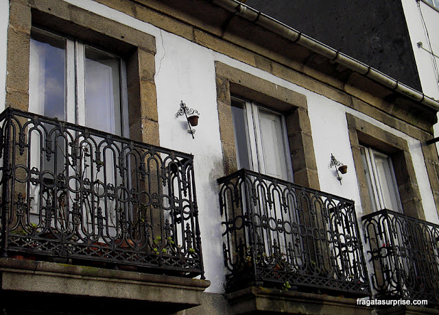 Fachadas típicas da Galícia em Caldas de Reis, Caminho de Santiago