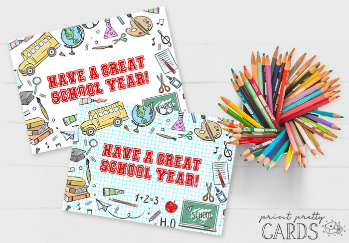 Free Printable Back to School Cards