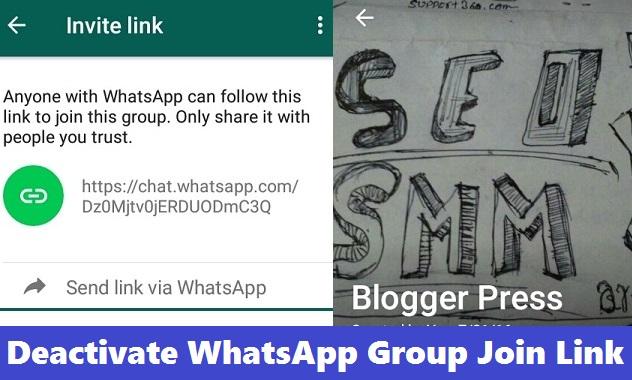 Revoke whatsapp group join link stopboris Gallery