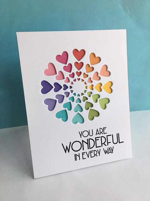 94120 Bright Hearts craft die