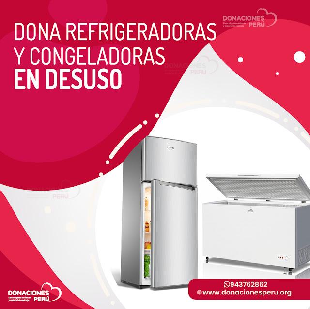Donaciones de Electrodomésticos en desuso en Lima