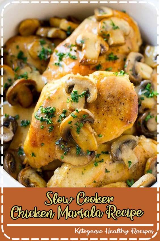 Slow Cooker Chicken Marsala Recipe