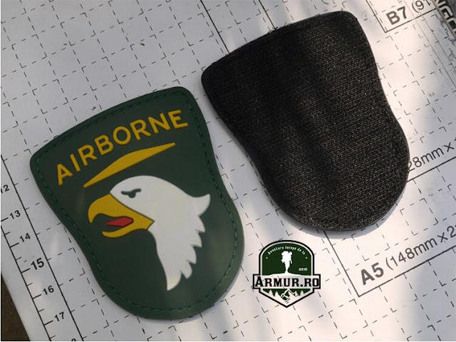 Patch Airborne airsoft cauciucat velcro