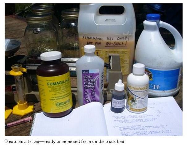 Nosema: Test on circulating formulations