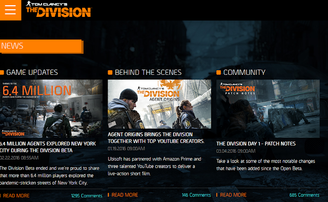 Tom Clancy's The Division news website launch release day March 8 2016