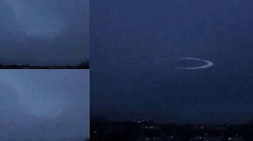 Un OVNI fue visto afectado por una tormenta eléctrica