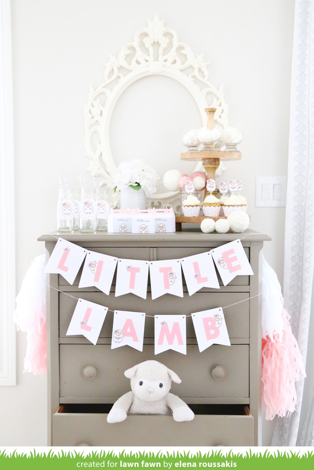 Attractive Elena Joins Us Today To Inspire You With Pretty In Pink Party Decor For A  Little Lamb Baby Shower!
