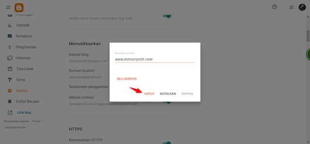 Cara Mengembalikan Domain TLD ke Sub Domain Blogspot