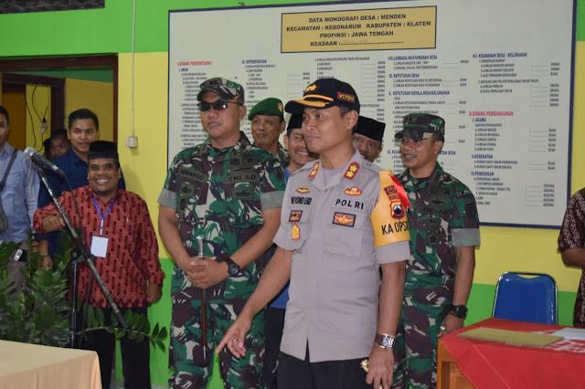 Forkopimda Klaten Lakukan Patroli, Jelang Pilkades Serentak