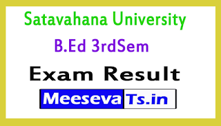 Satavahana University B.Ed 3rdSem  Exam Results