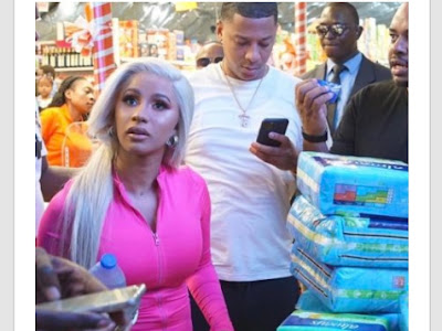 Cardi B. Visits orphanage home in Lagos.
